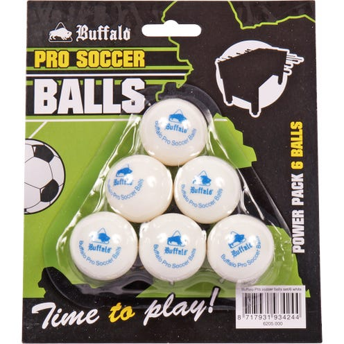 Buffalo Pro Table Soccer Balls 6-pack